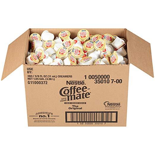 NESTLE雀巢 Coffee-mate原味咖啡伴侣, 0.375 oz/杯,共360小杯