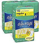 132-Ct ALWAYS Ultra Thin Size 1 Regular Pads