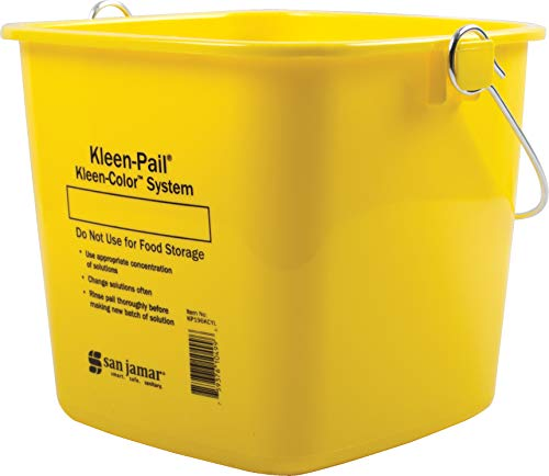 San Jamar KP196KCYL Kleen-Pail Commercial Cleaning Bucket
