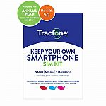 Tracfone 1-Year Prepaid Smartphone Plan