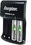 Energizer Recharge Basic Charger w/ 2 AA NiMH Rechargeable Batteries