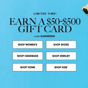 延长!Neiman Marcus网站购正价时尚美妆最高可得$500礼卡