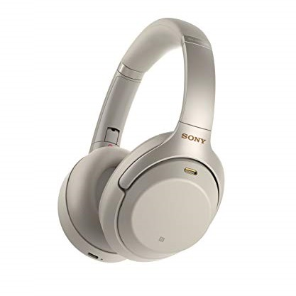 Sony WH1000XM3 Wireless Industry Leading Noise Canceling Over Ear Headphones, Silver (WH-1000XM3/S)