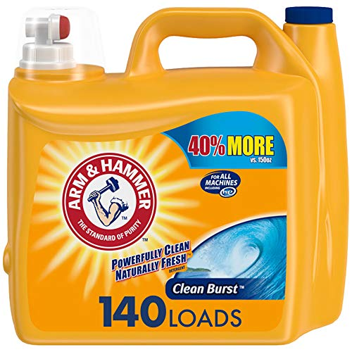 Arm & Hammer Clean Burst, 140 Loads Liquid Laundry Detergent, 210 Fl oz Packaging may vary, Now