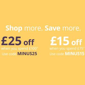 Feelunique英国站精选商品最高满£100减£25促销