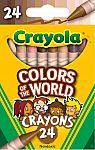 24-Pack Crayola Colors of the World Crayons