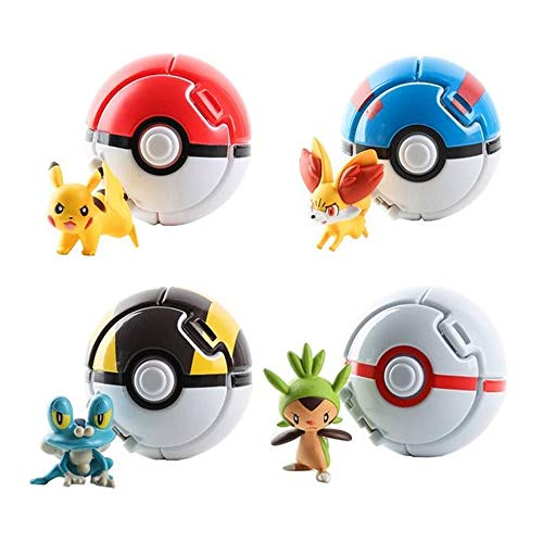 4 Pack Great Ball Figurine Toys for Kids