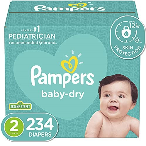Diapers Size 2, 234 Count