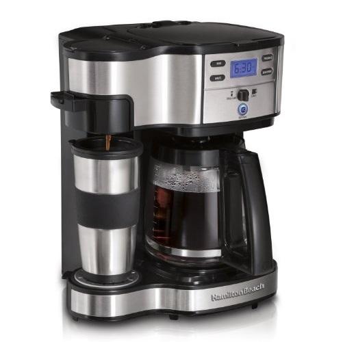 Hamilton Beach 49980A 单杯/12杯量不锈钢咖啡机