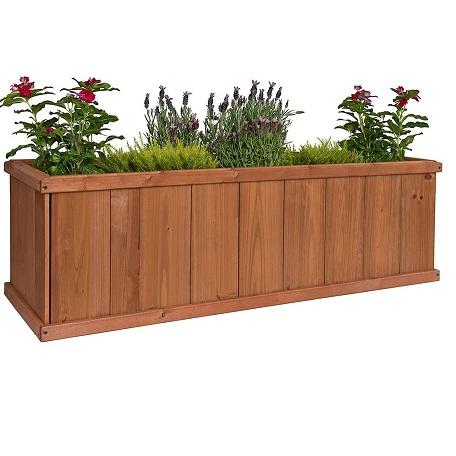 Greenstone 100078 Gran Robusto Cedar Planter Box, Medium, Heartwood