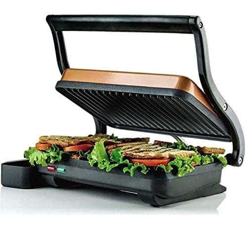 Ovente 不锈钢 不粘 三明治烘烤机