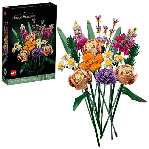 LEGO Flower Bouquet 10280 Building Kit; A Unique Flower Bouquet and Creative Project for Adults, New 2021 (756 Pieces), List Price is
