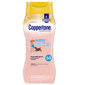Coppertone WaterBabies SPF 50 Sunscreen Lotion