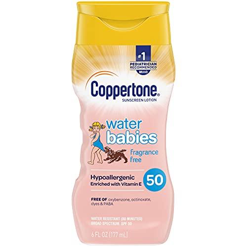 史低价!Coppertone 水宝宝SPF 50广谱防晒乳,6 oz