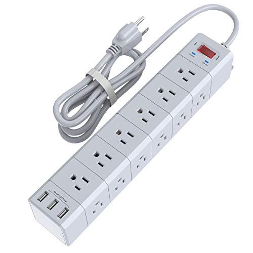 实用好物!好价!NvTias三面立体重型排插,带6英尺延长线,有18个AC插口+3个USB插口,折上折后仅售