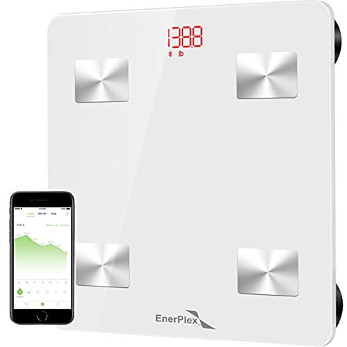 EnerPlex Scale for Body Weight - Bluetooth Compatible
