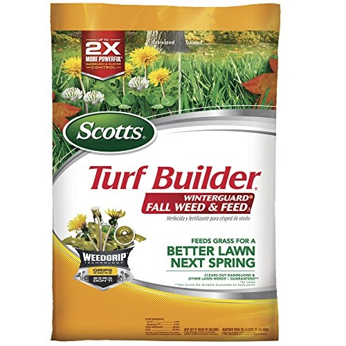 Scotts Turf Builder WinterGuard Fall Weed and Feed 3: Covers up to 15,000 Sq Ft, Fertilizer, 43 lbs., Not Available in FL, List Price is