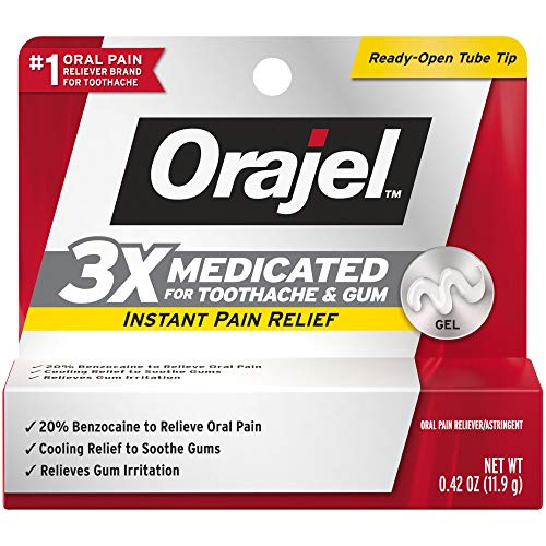 Orajel 3X 牙龈止痛药膏,0.42 oz