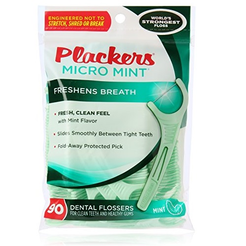PLACKERS Micro Mint Freshens Breath, Dental Flossers