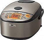 Zojirushi NP-HCC10 5.5-Cup Induction Heating Rice Cooker & Warmer