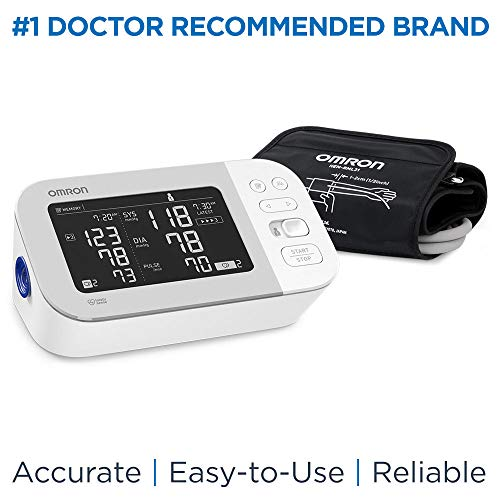 OMRON Platinum Blood Pressure Monitor, BP5450  Premium Upper Arm Cuff, Digital Bluetooth Blood Pressure Machine, Storesup to 200 Readings for Two Users (100 Readings Each)