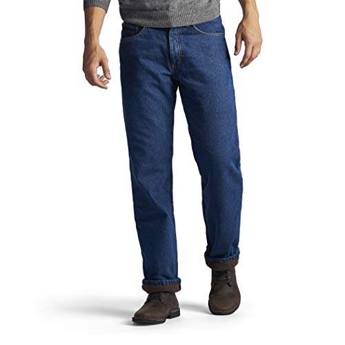 Lee Men's Fleece and Flannel Lined Relaxed-Fit Jeans