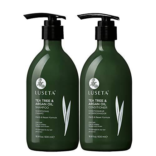 Luseta茶树和摩洛哥坚果油洗发护发套装,2x16.9 OZ