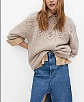Macy's -  MANGO Embossed Sweater