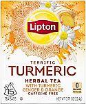 60 Count Lipton Herbal Tea Bags, Terrific Turmeric