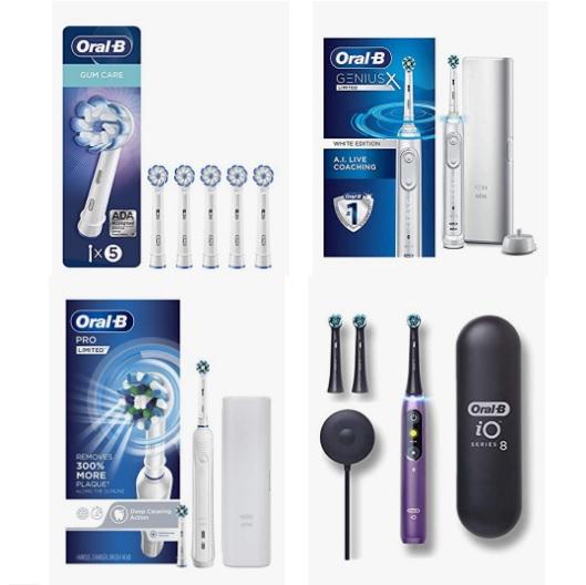 金盒特价!Amazon精选 Oral-B 电动牙刷和替换牙刷头促销!