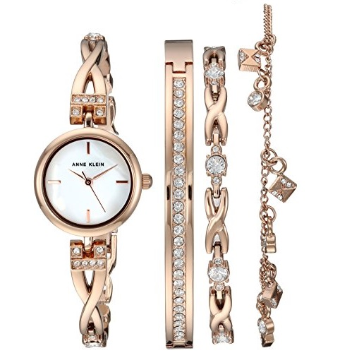 Anne Klein Women's AK/3082RGST Swarovski  Watch
