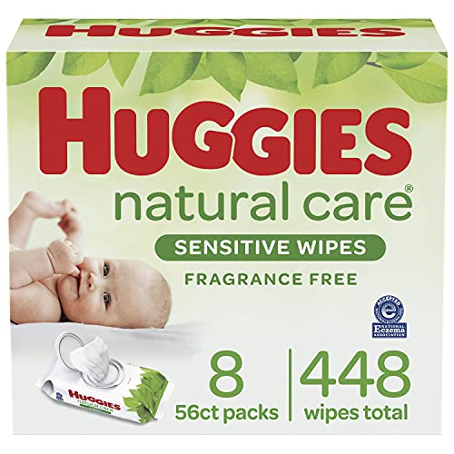 史低价!HUGGIES Natural Care 无香型婴儿湿巾,8包共448 张