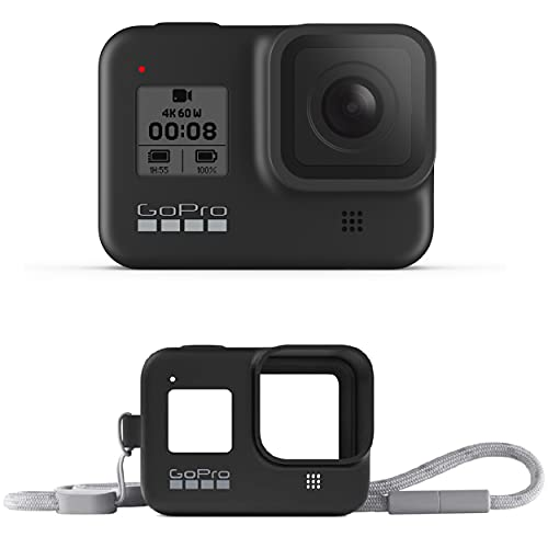 GoPro HERO8 Black Waterproof Action Camera with Touch Screen 4K Ultra HD Video 12MP Photos 1080p Live Accessory Bundle - 1 GoPro USA Battery + Lanyard   Now